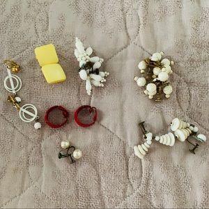 Vintage 50's 60's Clip On & Screw On Earrings